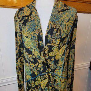 Vintage Boho Paisley Blazer Size Large.
